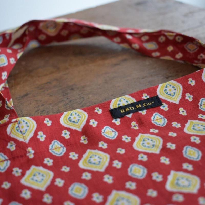 LINEN MOTIF PRINT BAG   no.3683