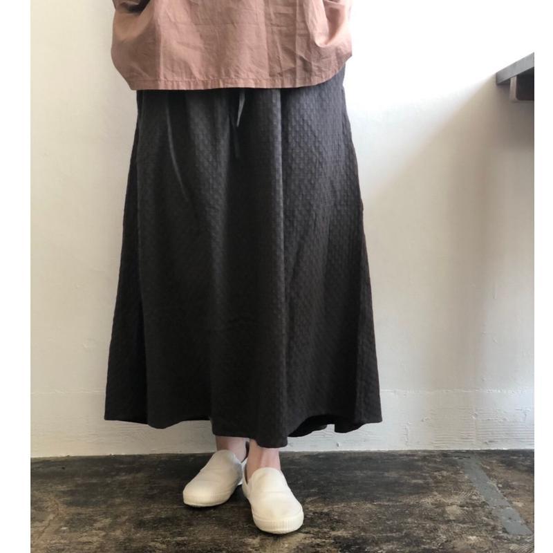 Vlas blomme/Cotton Dobby ピンタックスカート 13539291