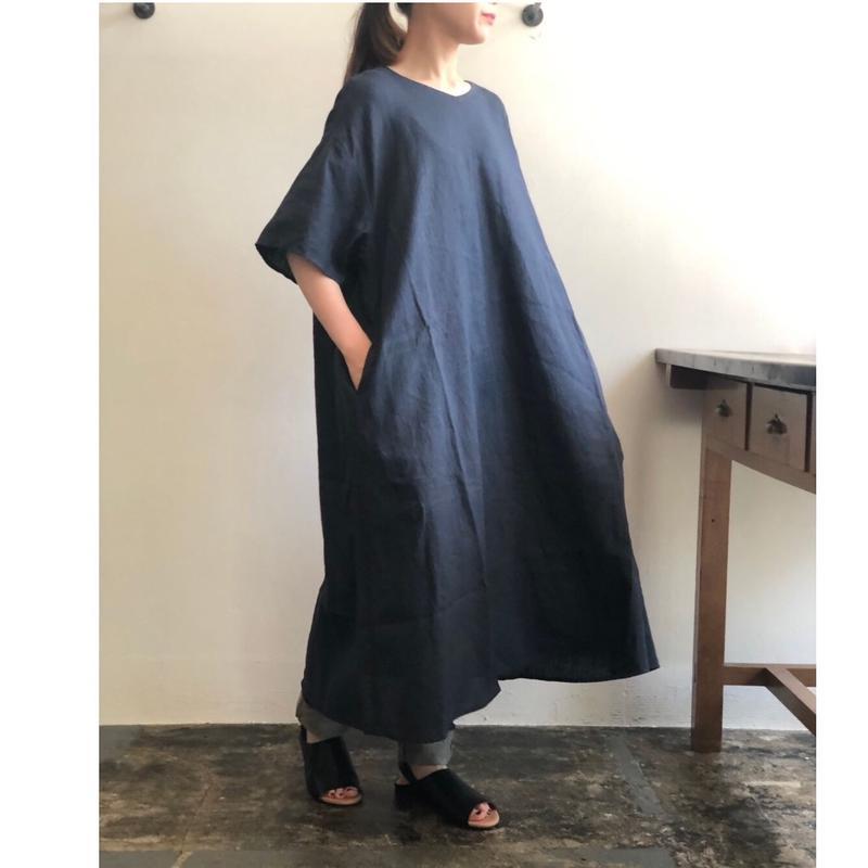 AUGUSTE-PRESENTATION Pajama LookリネンVネックワンピース