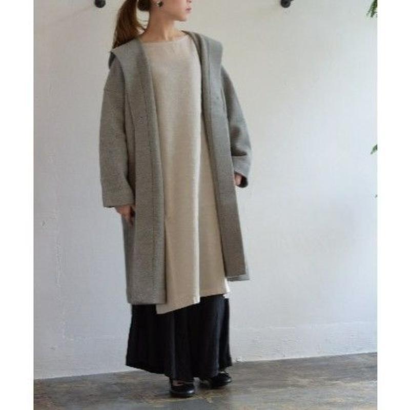 evam eva / press wool hooded coat E193K045