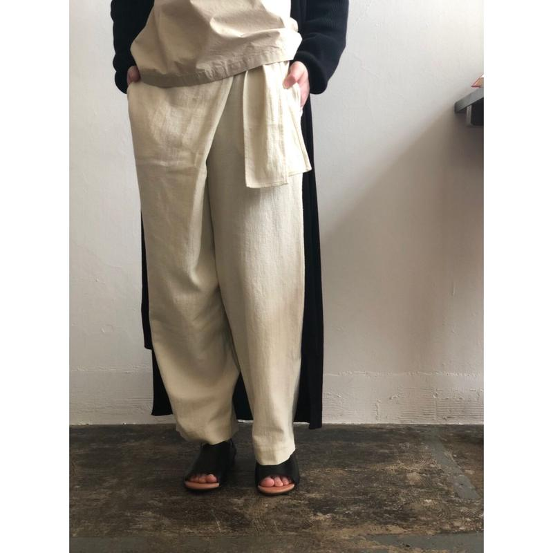 evam eva/cotton wrap pants