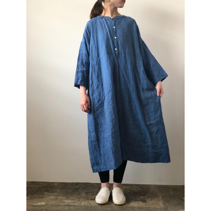 Vlas Blomme / 1321929  Thin Line Check ワイドワンピース