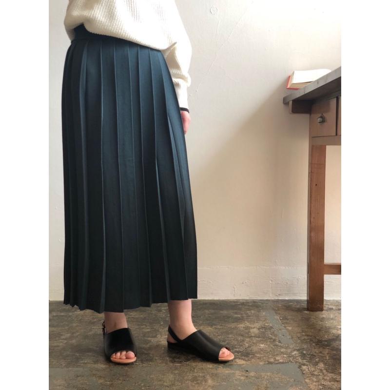BATONER WOMEN フライスプリーツスカート
