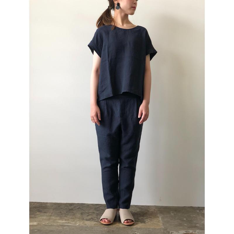 evam eva /  linen tuck easy pants
