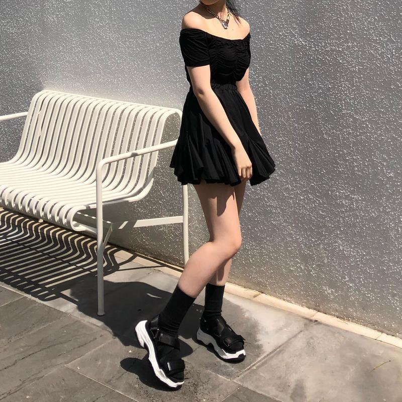 A-line Frilled Skirt ( 2color )