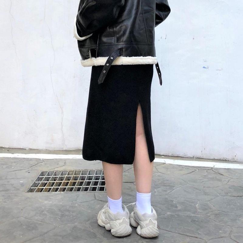 Knit Long Skirt  (2colours)