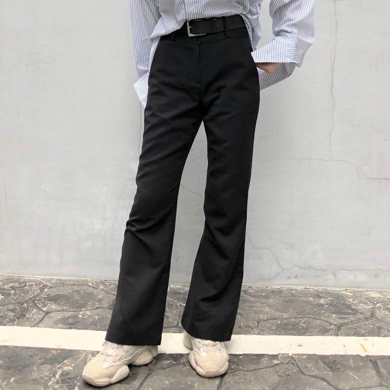 Slim Boot-cut Slacks Pants
