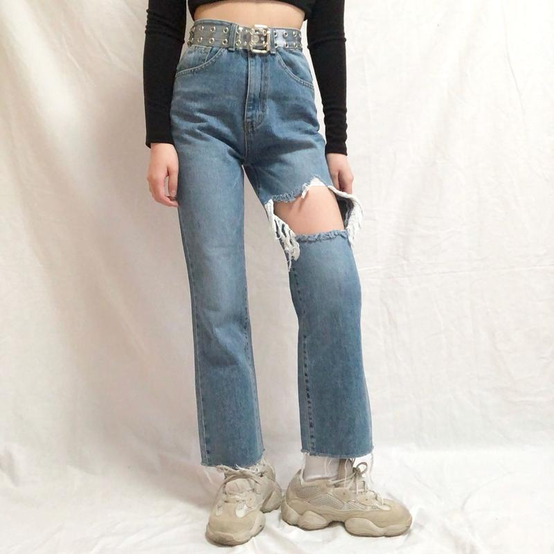 Straight Damage Jeans