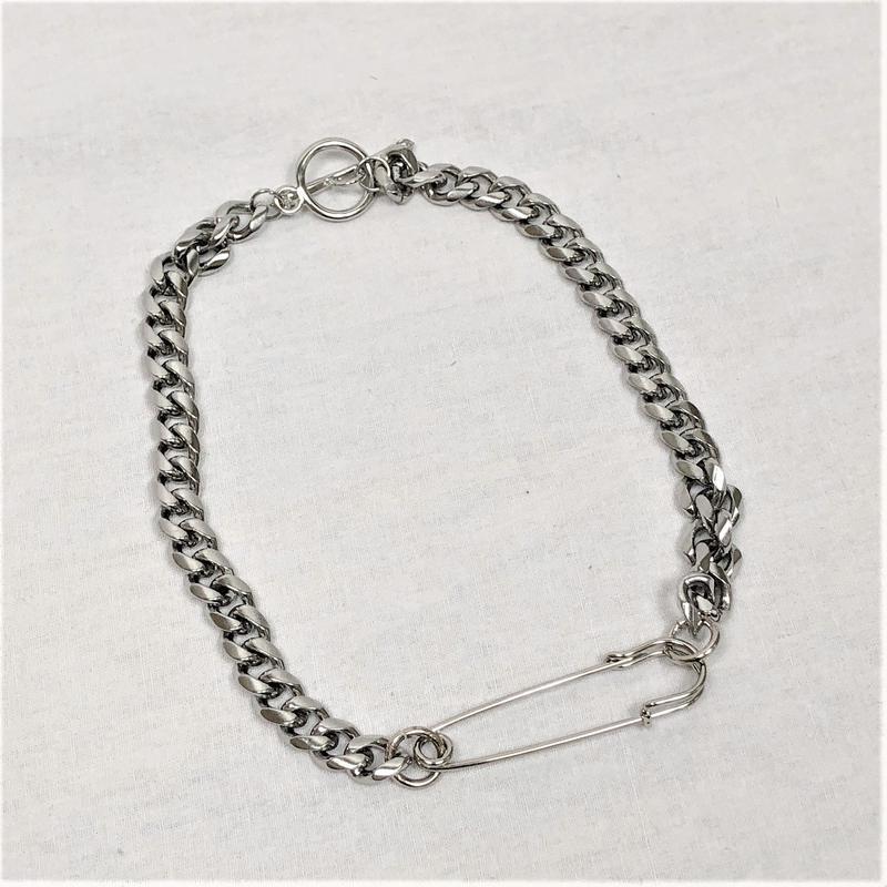 予約注文受付11/26-12/22[Hand made]Surgical Safety Pin Chain Necklace