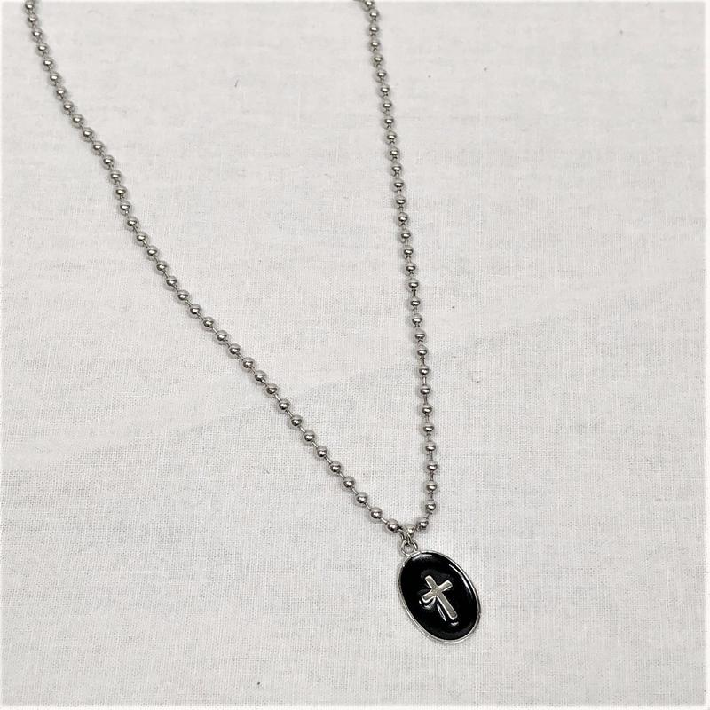 予約注文受付11/26-12/22[Hand made]Surgical Mini ball chain necklace