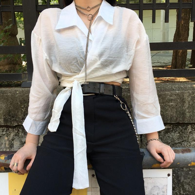 Ribbon Wrap Shirt
