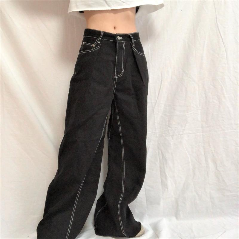 Wide Stitch Pants