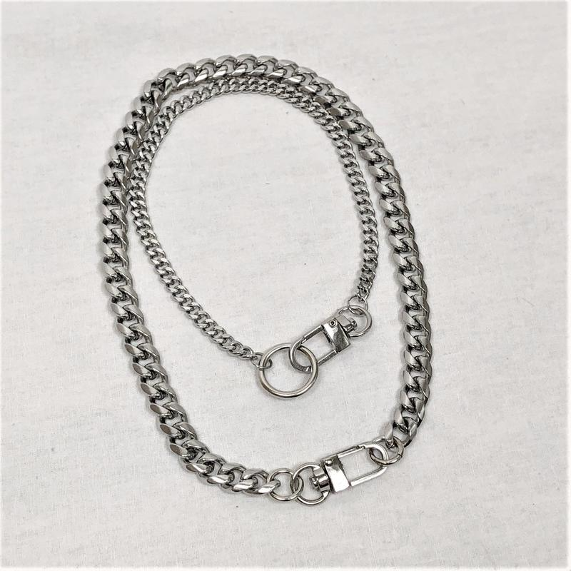 予約注文受付11/26-12/22[Hand made]Surgical Double Ring Necklace