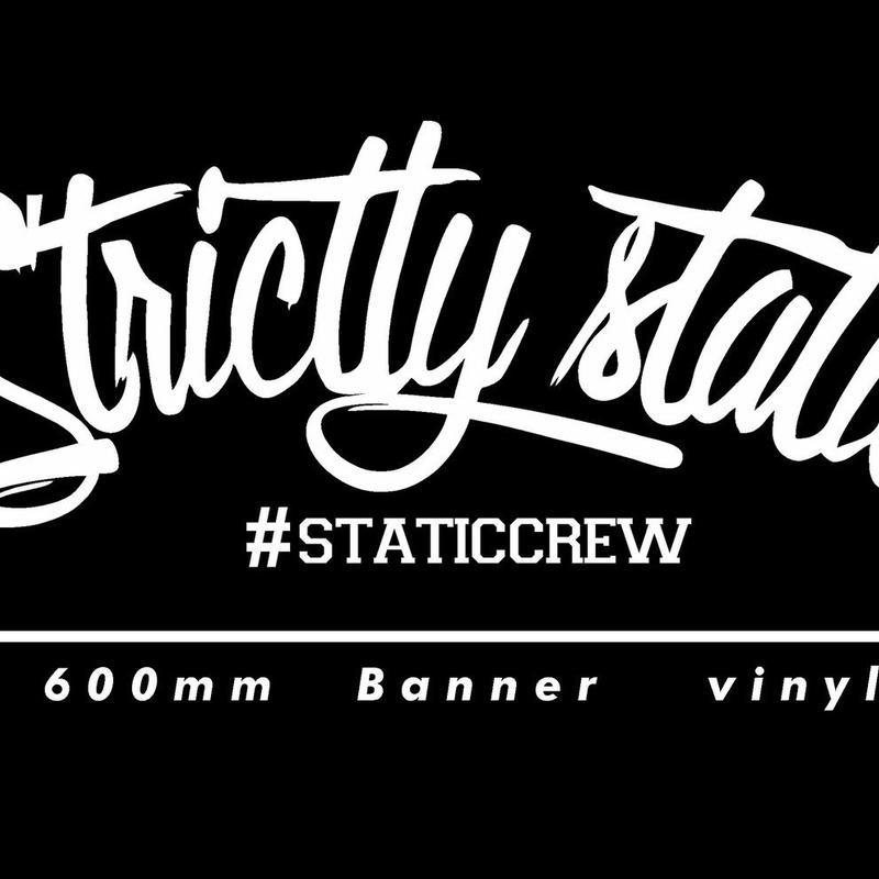 【Strictly Static バナーステッカー 各色】