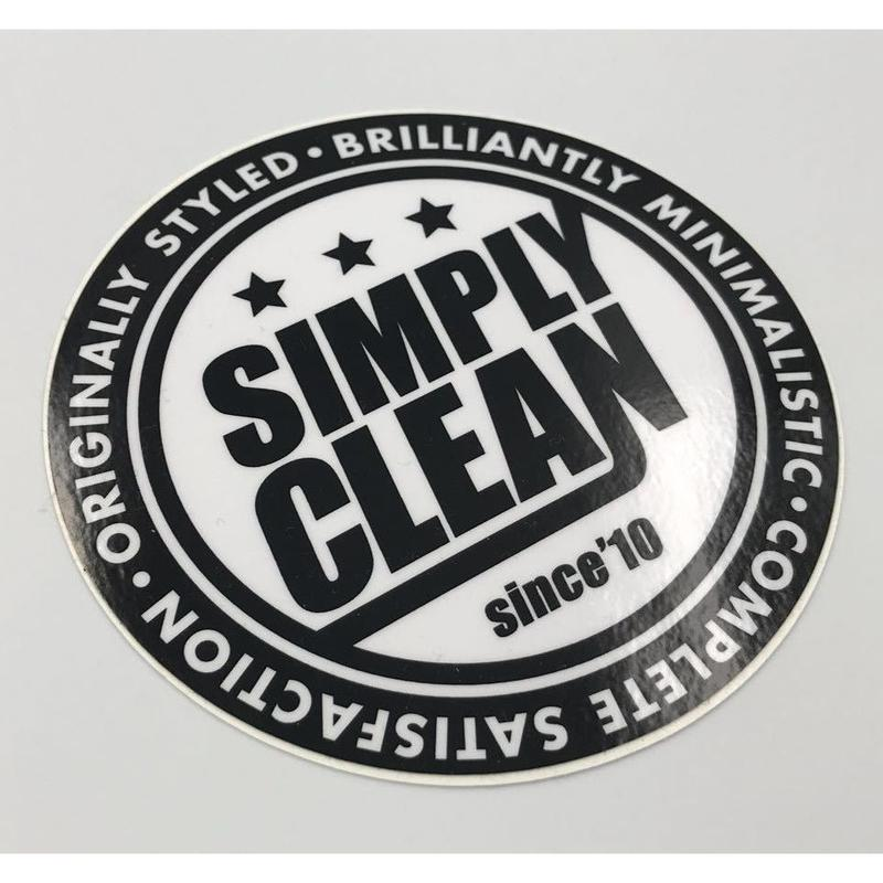 【Simply Clean 丸ステッカー】