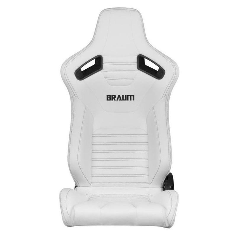 2脚【Braum Racing  セミバケットシート Elite-X ホワイト】
