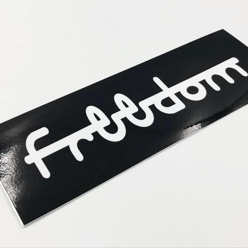 正規品【freedom.tw バンパーステッカー 各色】
