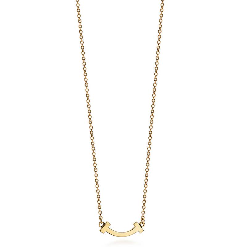 Tiffany T スマイルペンダント マイクロ 18kゴールド