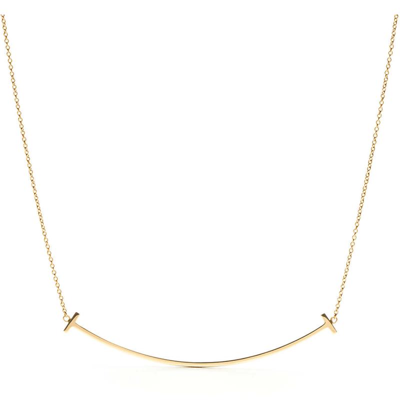 Tiffany Tスマイルペンダント ラージ  18kローズゴールド