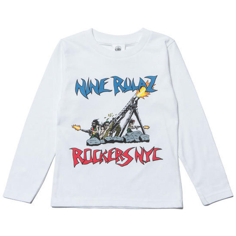【 NINE RULAZ / ナインルーラーズ 】ROCKERS NYC Collaboration Revolution Kids L/S Tee