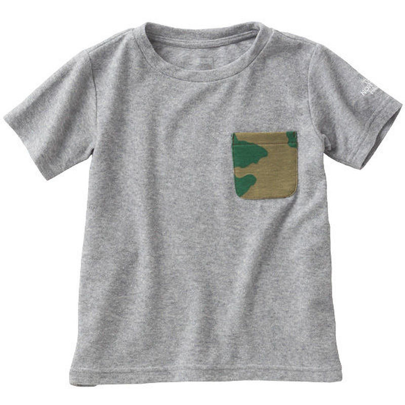 【 THE NORTH FACE / ノースフェイス 】Kids  Pile Pocket Tee  / ミックスッグレー