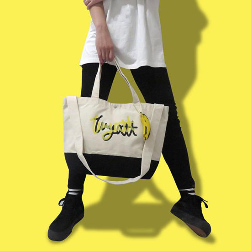 【 WYATT / ワイアット 】SLIP LOGO TOTE BAG