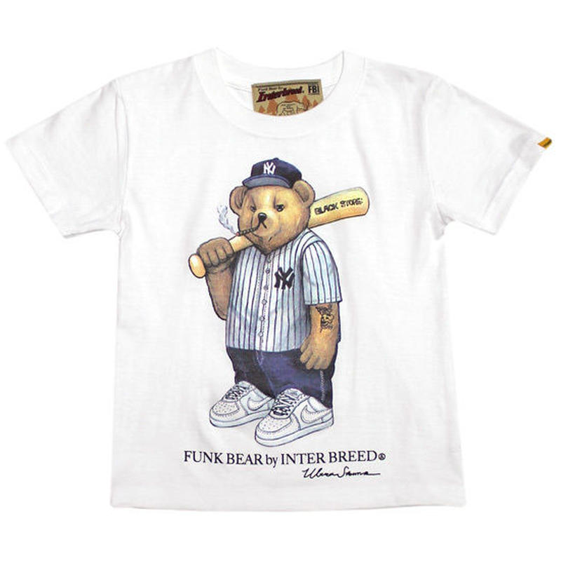 【INTERBREED / インターブリード 】FUNK BEAR Yankees Bear KID'S Tee