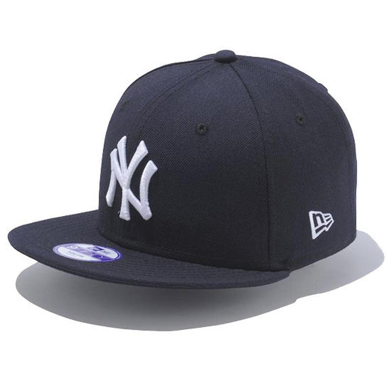 【 NEW ERA / ニューエラ 】 KIDS 9FIFTY ニューヨーク・ヤンキース スナップバック キャップ/ ネイビー×ホワイト