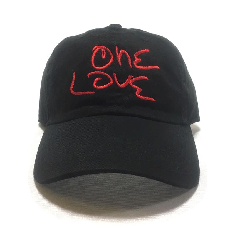 One Love Dad Hat (Black x Red)