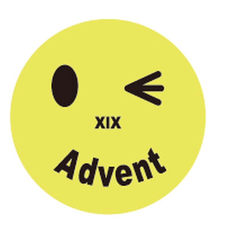 にこちゃんAdvent(Metal badges)