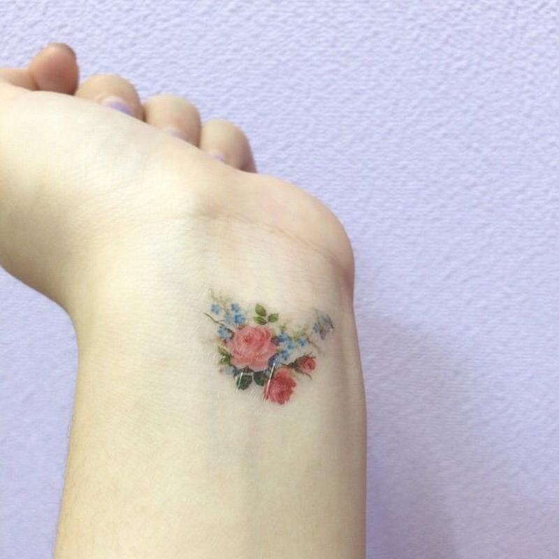 Flower tattoo stickers
