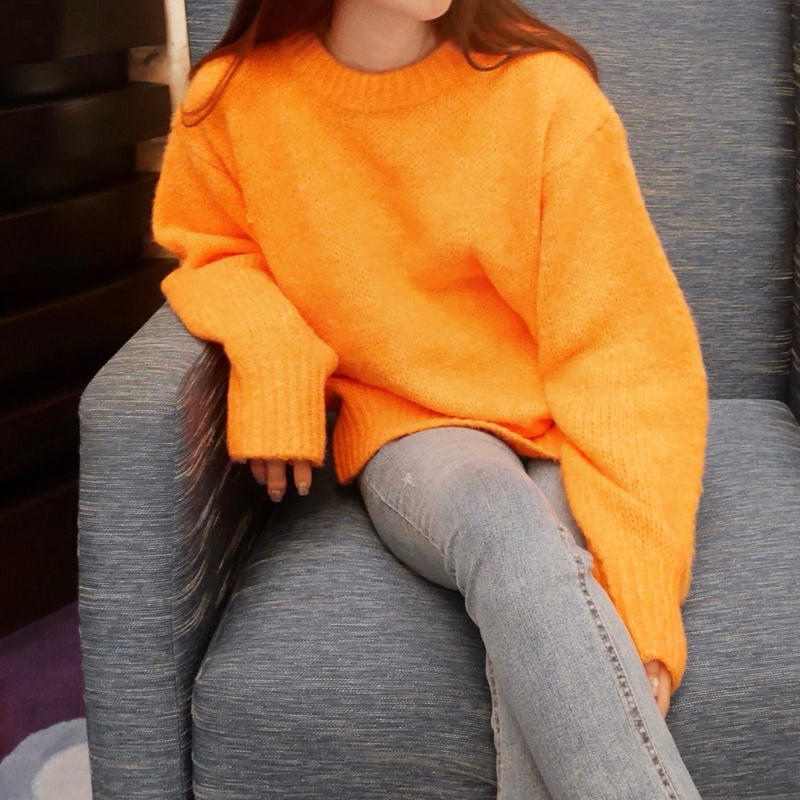 alpaca blend knit / orange