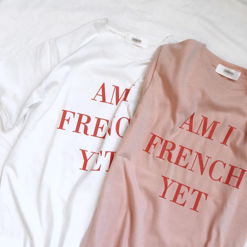 【即納】FRENCH tee(pink / white)