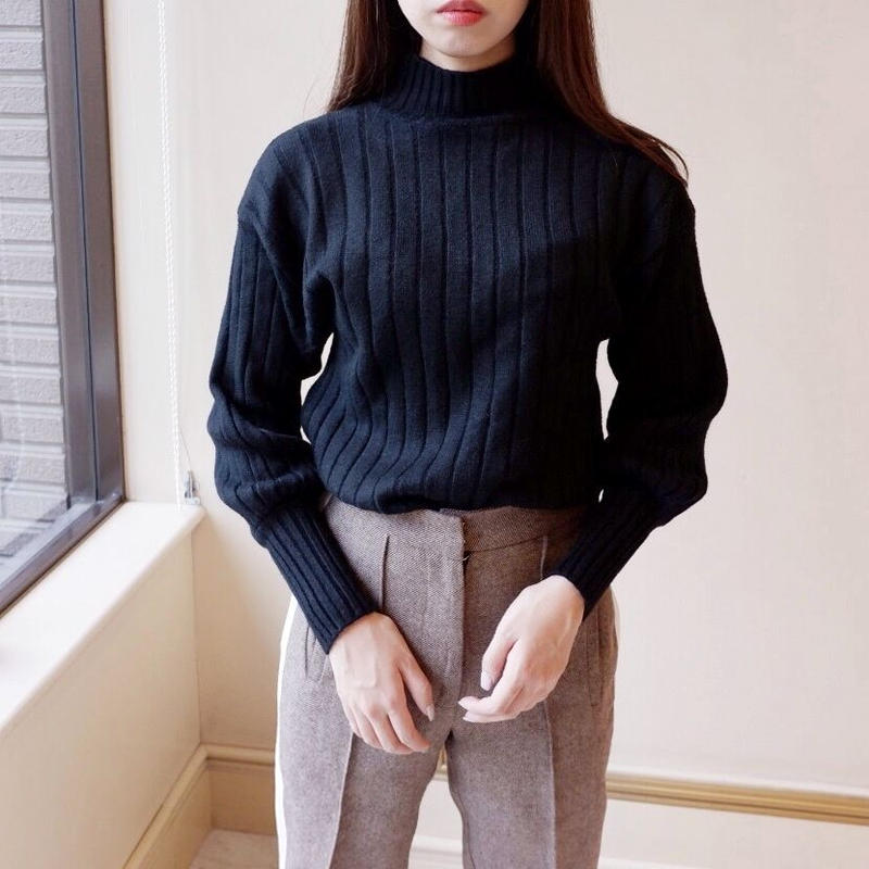 balloon sleeve knit / black