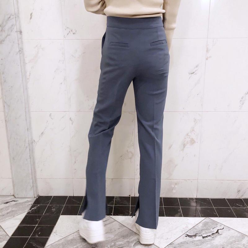 blue slacks