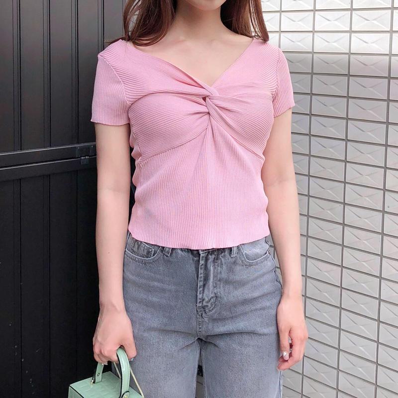 【予約】twist summer knit