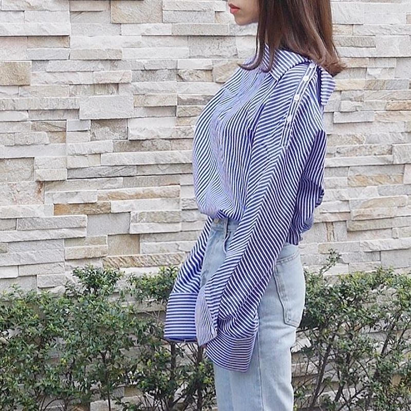 【即納】stripe offshoulder