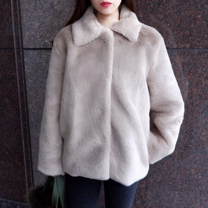 Audrey eco fur / gray beige
