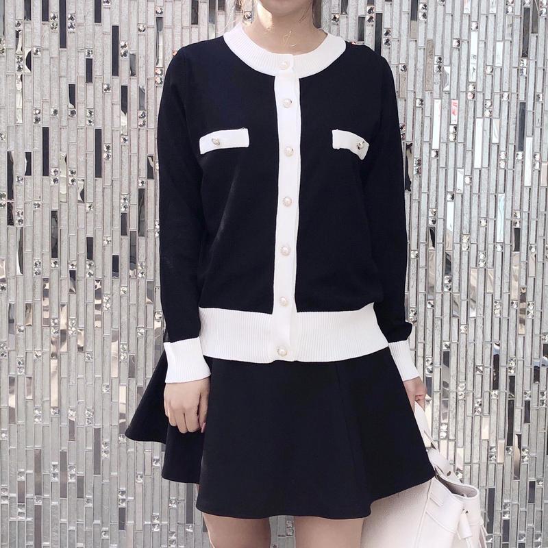 mono pearl cardi / black