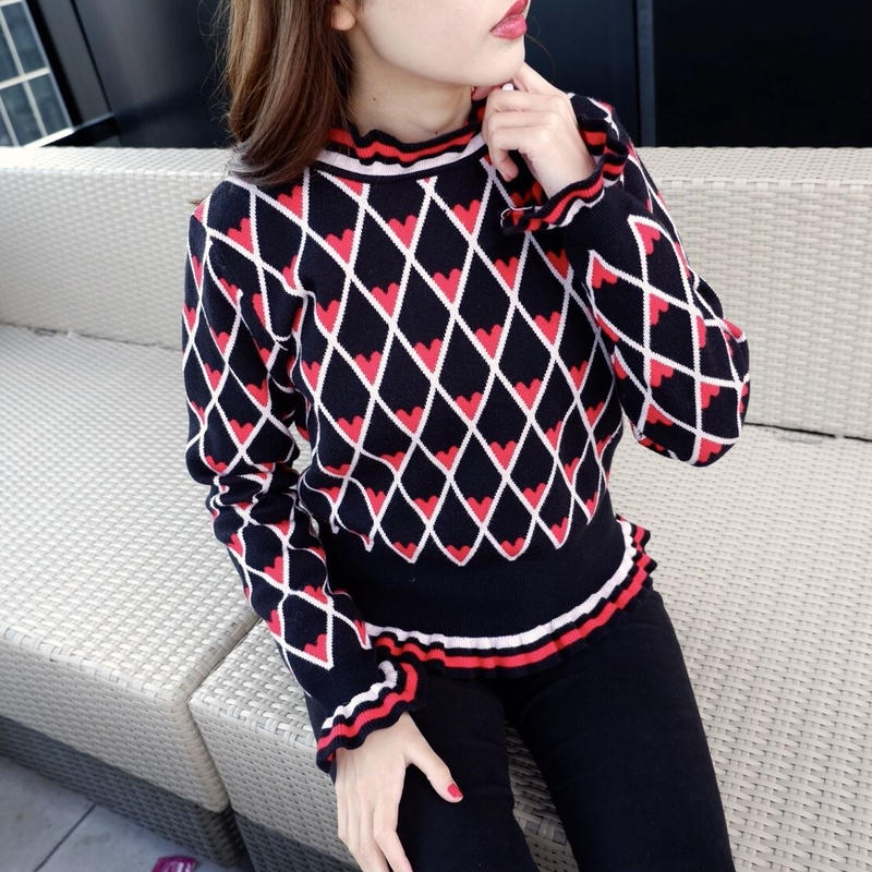 LOVE pattern knit