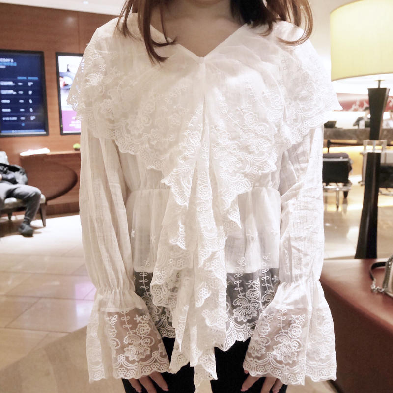girly lace BL ( ivory / black )