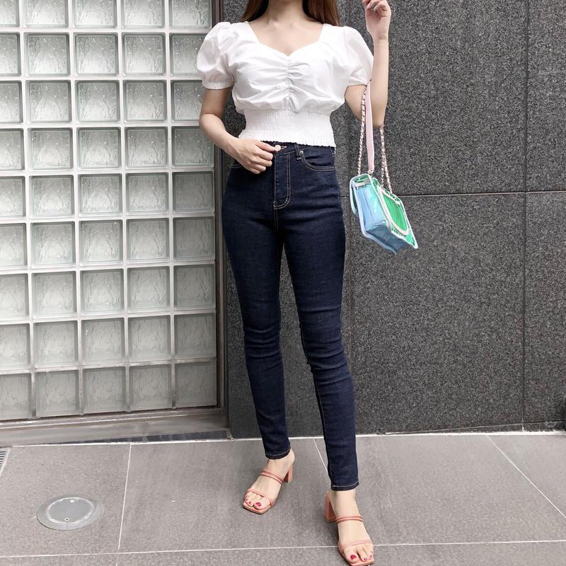 【予約】basic blue skinny jeans