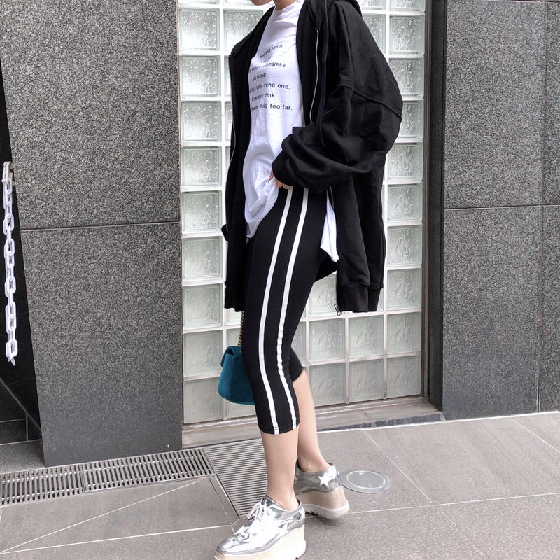 【予約】ankle length leggings / black