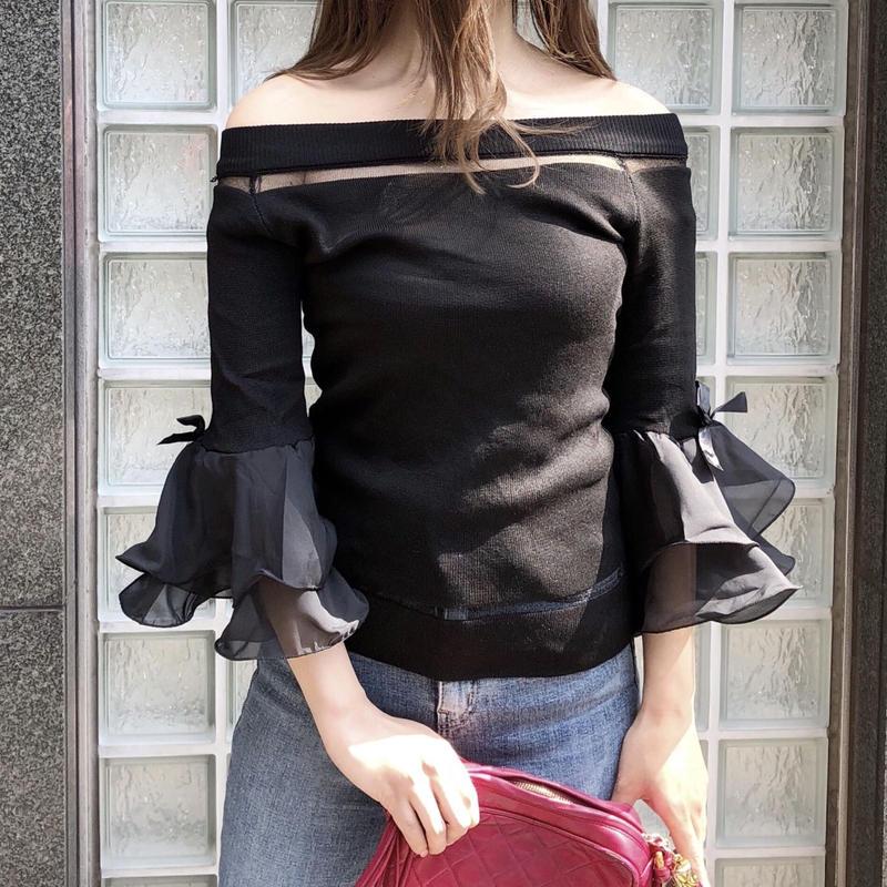 tulip knit / black