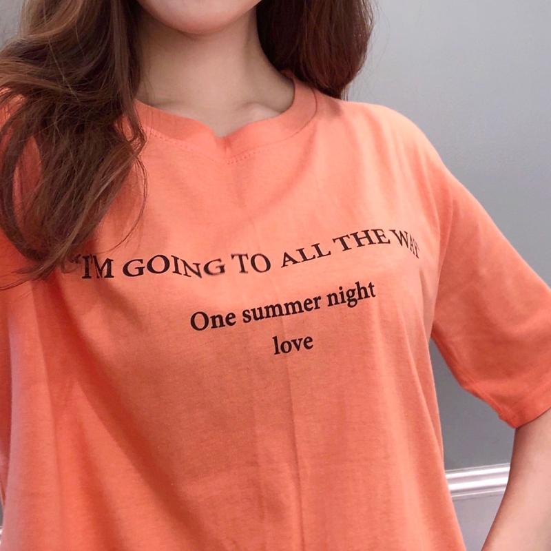 lettering tee / orange