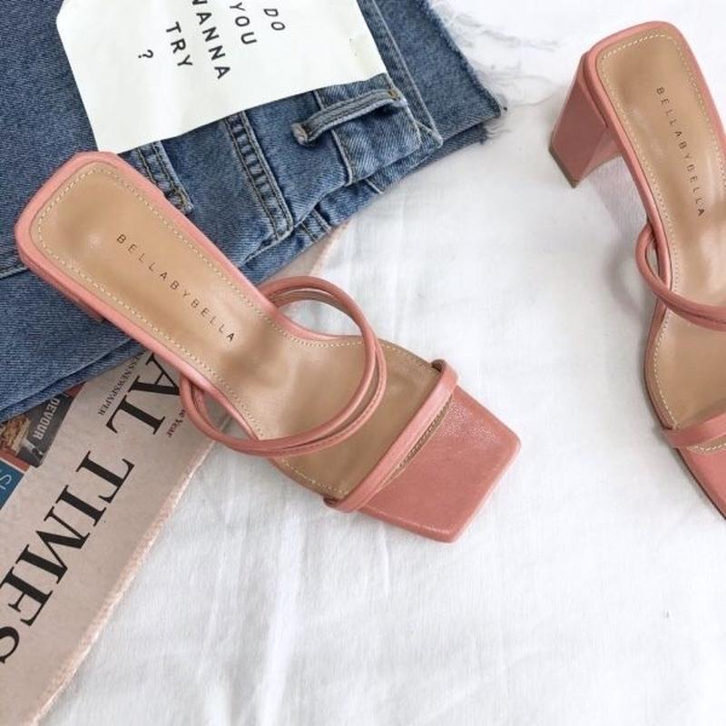 【予約】strap sandal / pink