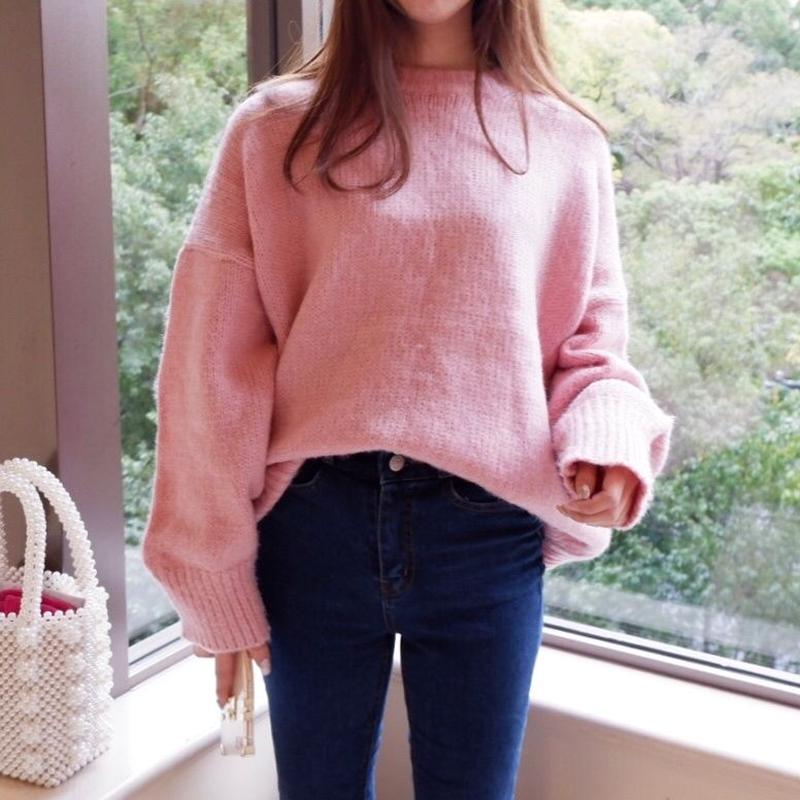 candy pink knit