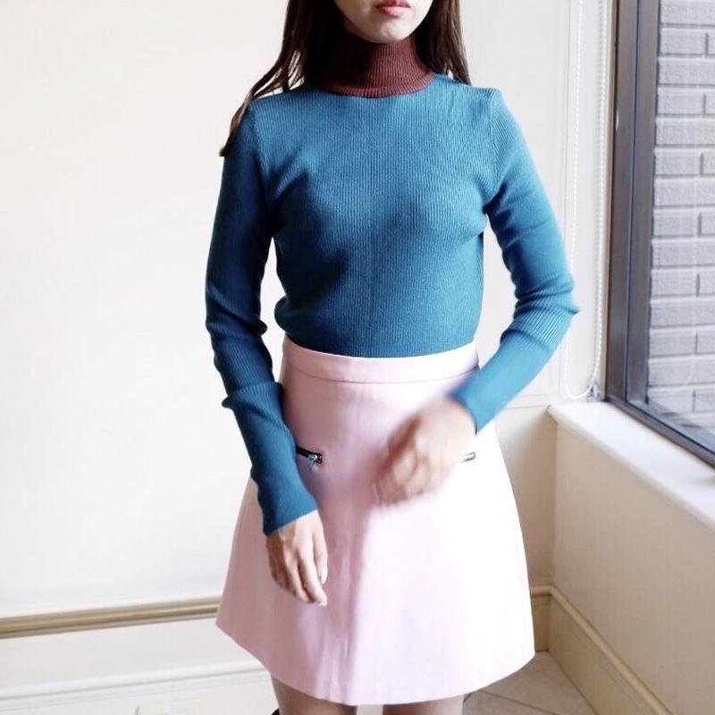 two tone slim knit / blue
