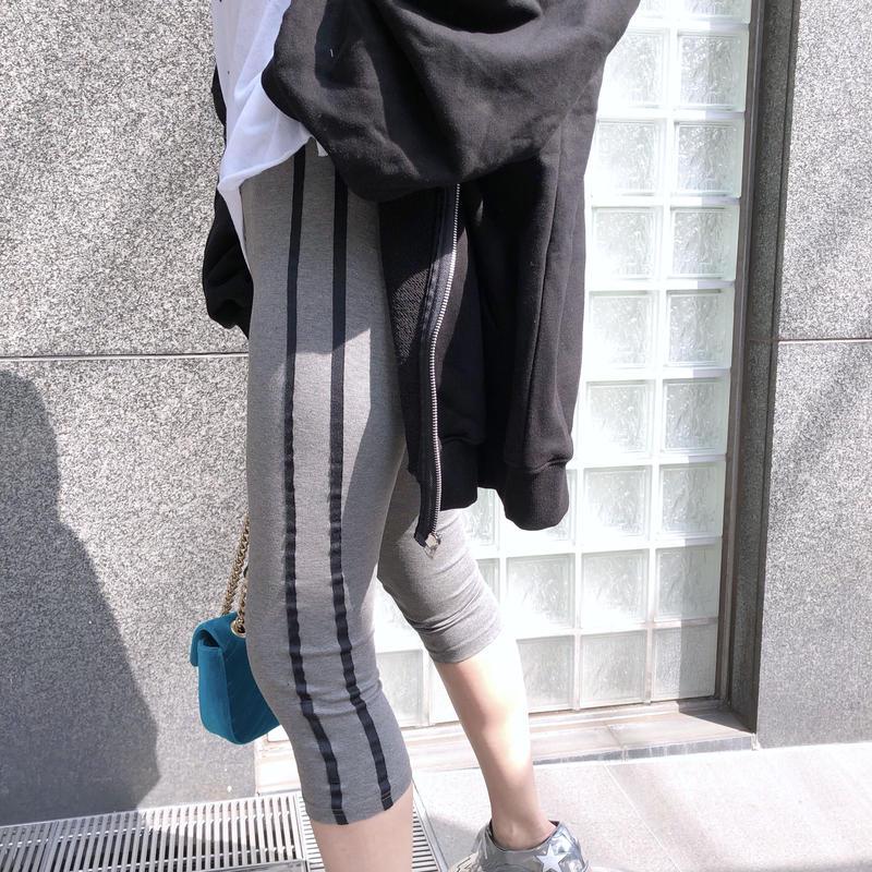 【予約】ankle length leggings / gray