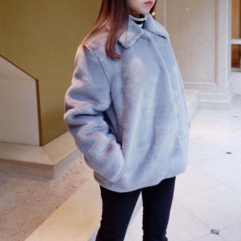 Audrey eco fur / blue gray